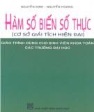 Giáo trình Hàm số biến số thực: Phần 1 - Nguyễn Định, Nguyễn Hoàng