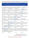 Luyện thi ĐH môn Hóa học 2015: Hướng dẫn giải một số bài tập khó-Kim loại tác dụng với axit HCl, H2SO4 loãng