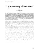 Lý luận chung về nhà nước - Lê Thị Bích Ngọc