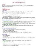Bài giảng Bài 13: Bệnh học máu