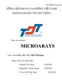 Báo cáo: Microarays