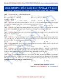 Luyện thi ĐH môn Hóa học 2015: Hướng dẫn giải một số bài tập khó-Kim loại tác dụng với axit HNO3, H2SO4 đặc (Phần 1)