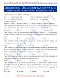 Luyện thi ĐH môn Hóa học 2015: Hướng dẫn giải một số bài tập khó-Kim loại tác dụng với axit HNO3, H2SO4 đặc (Phần 2)
