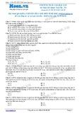 Chuyên đề LTĐH môn Sinh học: Phương pháp giải bài tập di truyền học người (phần 2)