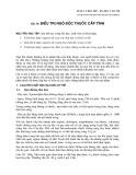 Dược lý học 2007 - Bài 36: Điều trị ngộ độc thuốc cấp tính