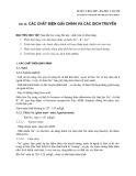 Dược lý học 2007 - Bài 26: Các chất điện giải chính và các dịch truyền