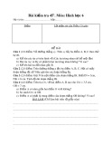 Đề kiểm tra 1 tiết Hình học lớp 6