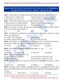 Luyện thi ĐH môn Hóa học 2015: Cơ bản-Phương pháp xác định cấu tạo cacbohidrat
