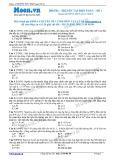 Chuyên đề LTĐH môn Vật lý: Truyền tải điện năng (Đề 1)