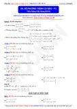 Toán học lớp 10: Hệ phương trình cơ bản (Phần 1) - Thầy Đặng Việt Hùng