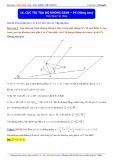 Luyện thi Đại học môn Toán: Cực trị tọa độ không gian (Phần 4 Nâng cao) - Thầy Đặng Việt Hùng