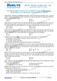 Chuyên đề LTĐH môn Vật lý: Truyền tải điện năng (Đề 2)