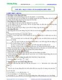 Luyện thi Đại học Vật lý - Chủ đề 1: Đại cương về dao động điều hòa