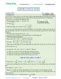 Luyện thi Đại học Vật lý - Chủ đề 2: Con lắc lò xo