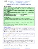 Luyện thi Đại học Vật lý - Chủ đề 3: Momen động lượng-Định luật bảo toàn momen động lượng