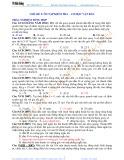 Luyện thi Đại học Vật lý - Chủ đề 5: Ôn tập kiểm tra-Cơ học vật rắn