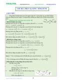 Luyện thi Đại học Vật lý (Sóng cơ học) - Chủ đề 3: Phản xạ sóng-sóng dừng