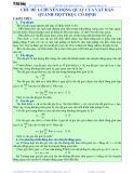 Luyện thi Đại học Vật lý - Chủ đề 1: Chuyển động quay của vật rắn quanh một trục cố định