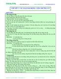 Luyện thi Đại học Vật lý - Chủ đề 5: Các loại dao động-cộng hưởng cơ