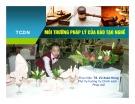 Bài giảng Môi trường pháp lý của đào tạo nghề - TS. Vũ Xuân Hùng