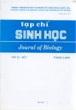 Tạp chí Sinh học: Tập 23 - Số 1 (Tháng 3 - 2001) 2