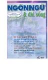 Tạp chí Ngôn ngữ & Đời sống Số 9 (71) – 2001