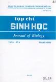 Tạp chí Sinh học: Tập 24 - Số 3 (Tháng 9- 2002)
