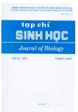 Tạp chí Sinh học: Tập 23 - Số 1 (Tháng 3 - 2001)