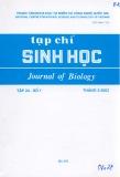 Tạp chí Sinh học: Tập 24 - Số 1 (Tháng 3 - 2002)