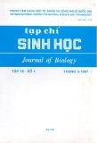 Tạp chí Sinh học: Tập 19 - Số 1 (Tháng 3 - 1997)