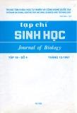 Tạp chí Sinh học: Tập 19 - Số 4 (Tháng 12 - 1997)