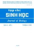 Tạp chí Sinh học: Tập 21 - Số 3 (Tháng 9 - 1999)