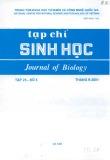 Tạp chí Sinh học: Tập 23 - Số 3 (Tháng 9 - 2001)
