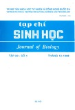 Tạp chí Sinh học: Tập 20 - Số 4 (Tháng 12 - 1998)