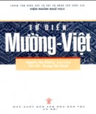 Ebook Từ điển Mường - Việt: Phần 1 - Nguyễn Văn Khang (chủ biên)