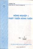 Tạp chí Nông nghiệp & Phát triển Nông thôn - Số 1/1999