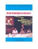 Hệ thống câu hỏi - đáp về Nghị định 115/2005/NĐ-CP