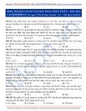 Luyện thi ĐH môn Hóa học 2015: Nâng cao-Phương pháp giải bài toán thủy phân-Oxi hóa cacbohidrat