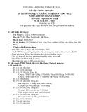 Đề thi thực hành Kế toán doanh nghiệp năm 2012 (Mã đề TH13)