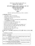 Đề thi thực hành Kế toán doanh nghiệp năm 2012 (Mã đề TH16)