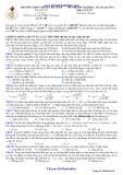 Đề thi thử Đại học lần 3 môn Vật lý năm 2014 (Mã đề 134) - THPT Chuyên Hà Tĩnh