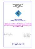 Luận văn tốt nghiệp: Thiết kế các bài tập thảo luận nhóm để hỗ trợ việc dạy học 8 bài trong SGK Vật lí 12 nâng cao