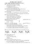 Đề cương Vật lý 7 học kỳ I