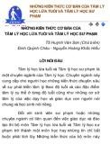 Ebook Những kiến thức cơ bản của tâm lý học lứa tuổi và tâm lý học sư phạm - TS. Huỳnh Văn Sơn