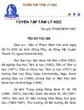 Tuyển tập Tâm lý học - Phạm Minh Hạc