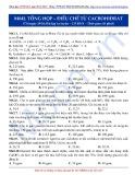 Luyện thi ĐH môn Hóa học 2015: Cơ bản-Tổng hợp điều chế từ Cacbohiđrat