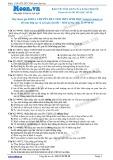 Chuyên đề LTĐH môn Sinh học: Bảo vệ vốn gen của loài người