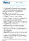 Chuyên đề LTĐH môn Sinh học: Di truyền y học