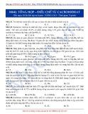Luyện thi ĐH môn Hóa học 2015: Nâng cao-Tổng hợp điều chế từ Cacbohiđrat