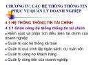 Bài giảng Hệ thống thông tin quản lý: Chương 4 - ThS. Tô Thị Hải Yến